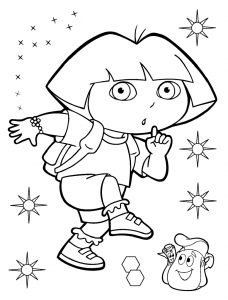 Coloriage de Dora l'exploratrice à imprimer