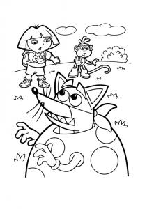 Image de Dora l'exploratrice à télécharger et colorier