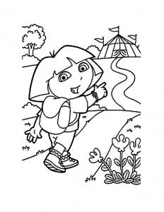 Coloriage de Dora l'exploratrice gratuit à colorier