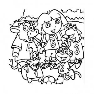 Coloriage de Dora l'exploratrice à imprimer gratuitement