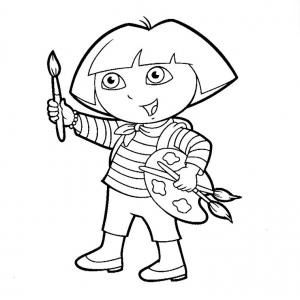 Coloriage de Dora l'exploratrice à colorier pour enfants