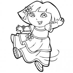 Coloriage de Dora la danseuse