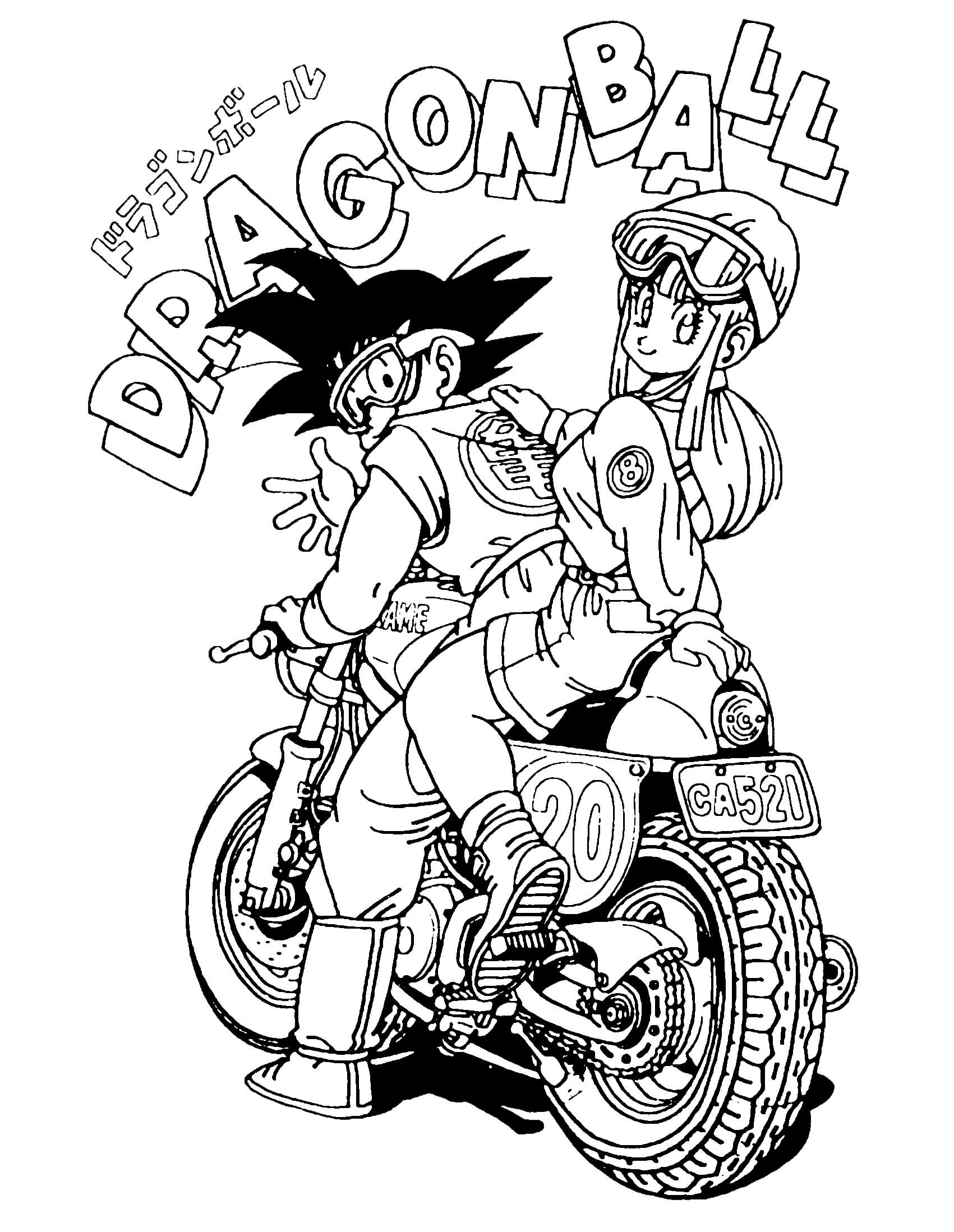 Dragon ball gratuit 3 coloriage dragon ball z - Coloriage gratuit dragon ball z ...