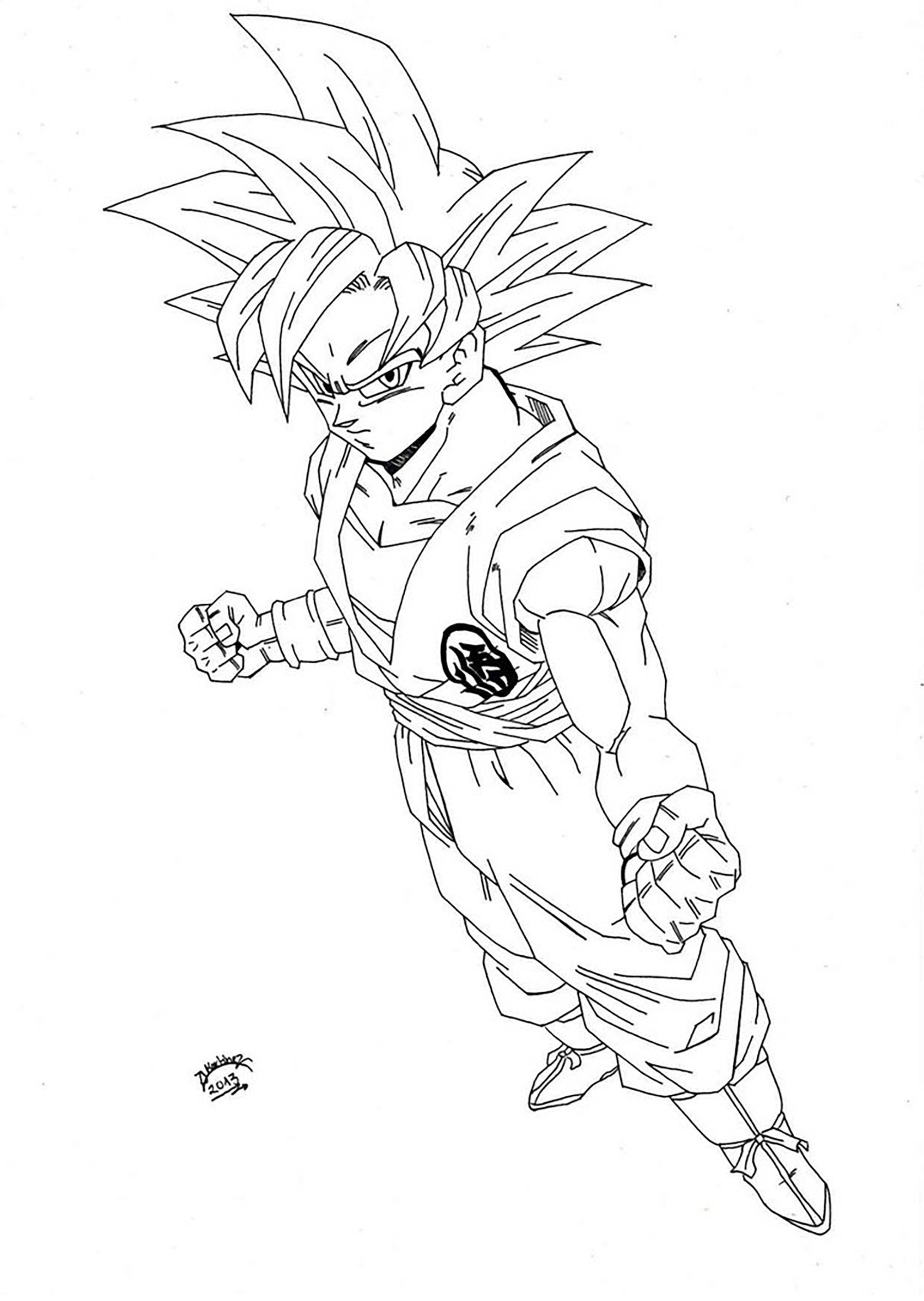 Dragon ball gratuit 8 coloriage dragon ball z - Coloriage gratuit dragon ball z ...