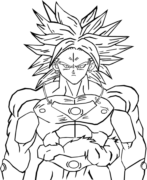 Facile Dragon Ball Broly Super Sayian Coloriage Dragon Ball Z