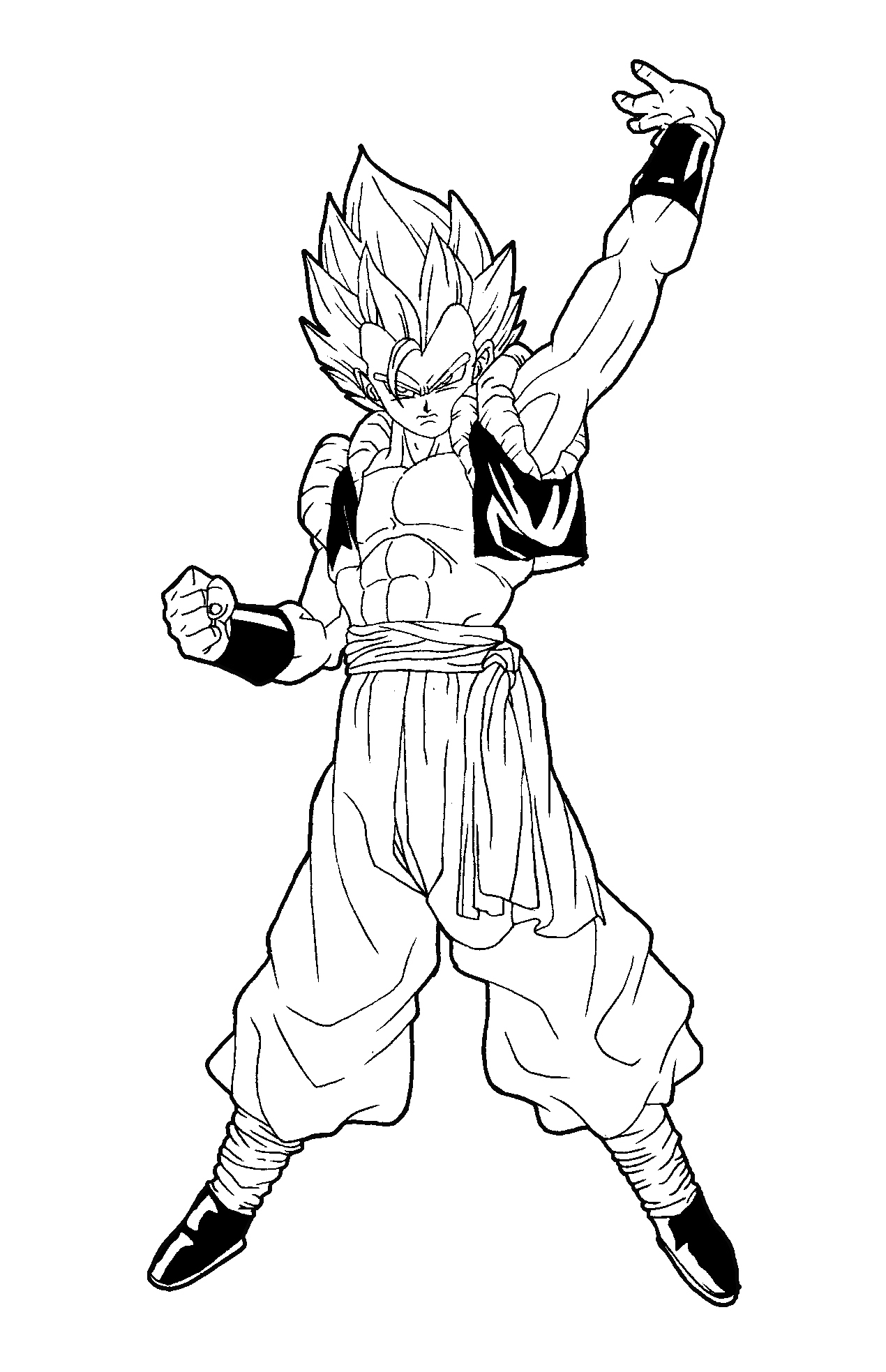 gogeta ssj3 coloring pages coloring pages. Black Bedroom Furniture Sets. Home Design Ideas