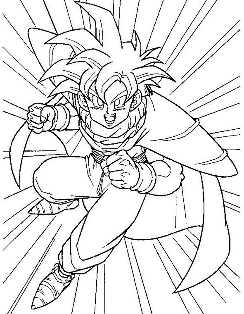 Facile Dragon Ball Gohan Ado Super Saiyan Coloriage Dragon Ball