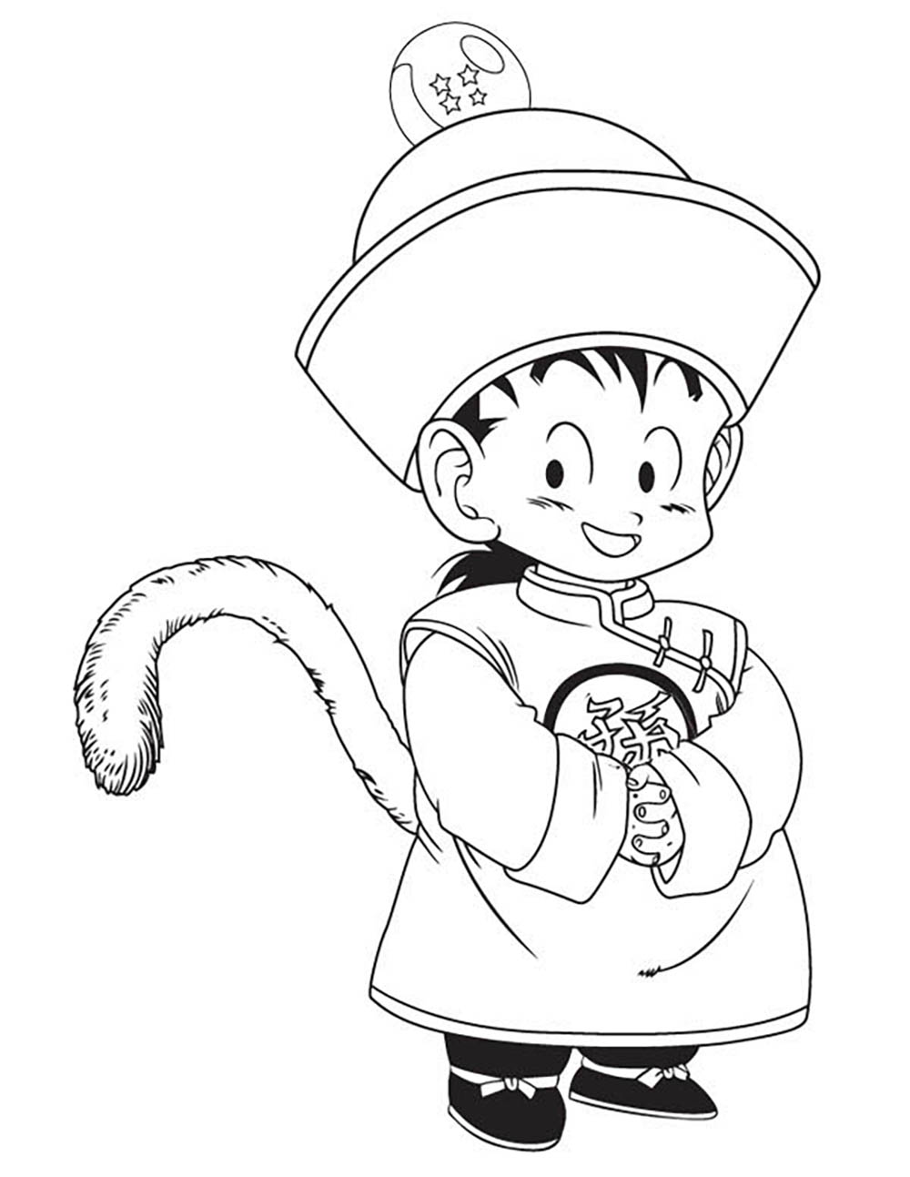 Facile dragon ball gohan petit coloriage dragon ball z - Coloriage sangohan ...