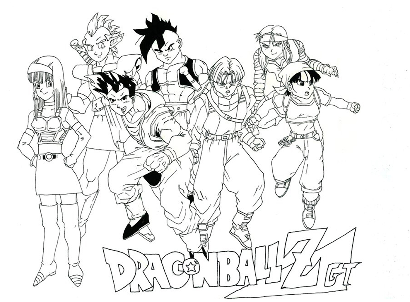 Facile dragon ball gt coloriage dragon ball z coloriages pour enfants - Dessin dragon ball z facile ...