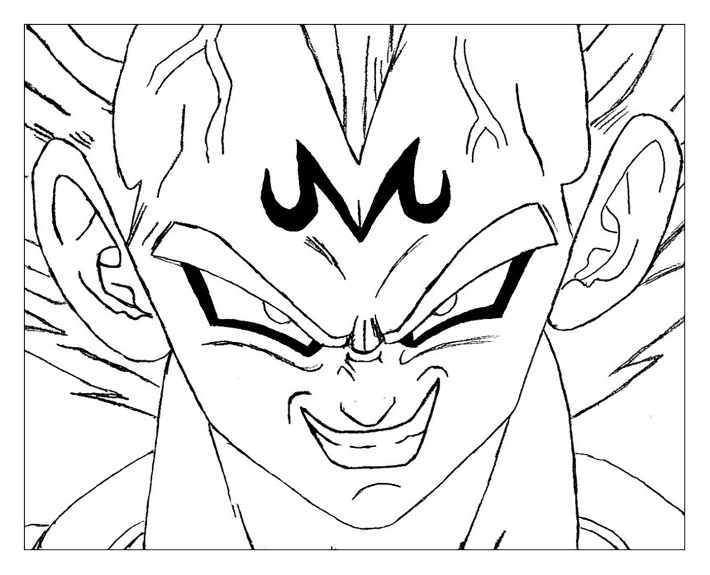 Facile dragon ball majin vegeta coloriage dragon ball z coloriages pour enfants - Dessin dragon ball z facile ...