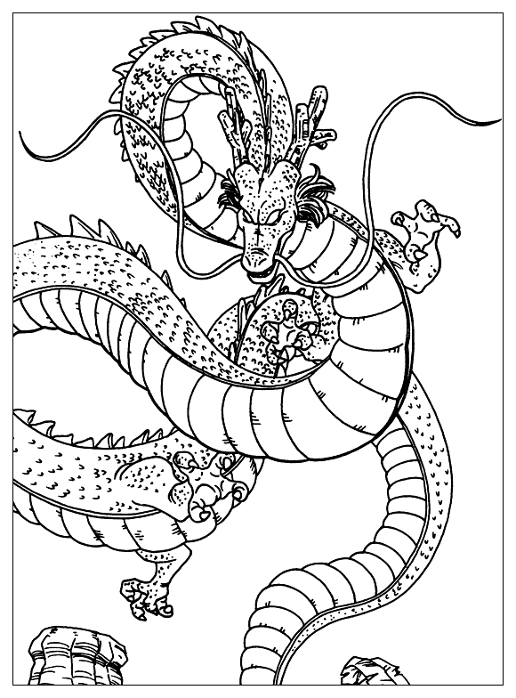 Facile dragon ball shenron coloriage dragon ball z coloriages pour enfants - Dessin dragon ball z facile ...