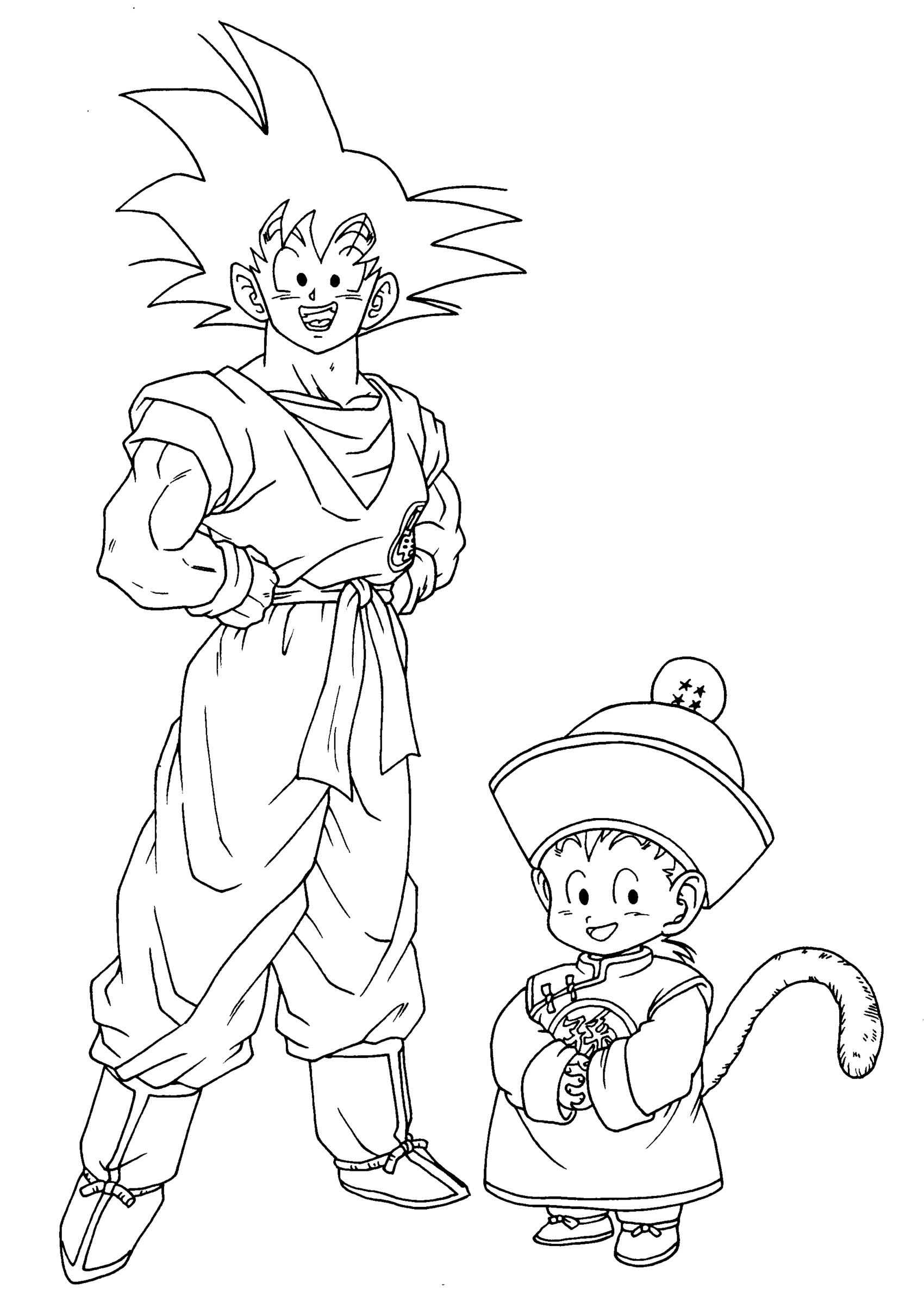 Coloriages dragon ball z 11 coloriage dragon ball z coloriages pour enfants - Coloriage dragon ball z sangoku ...