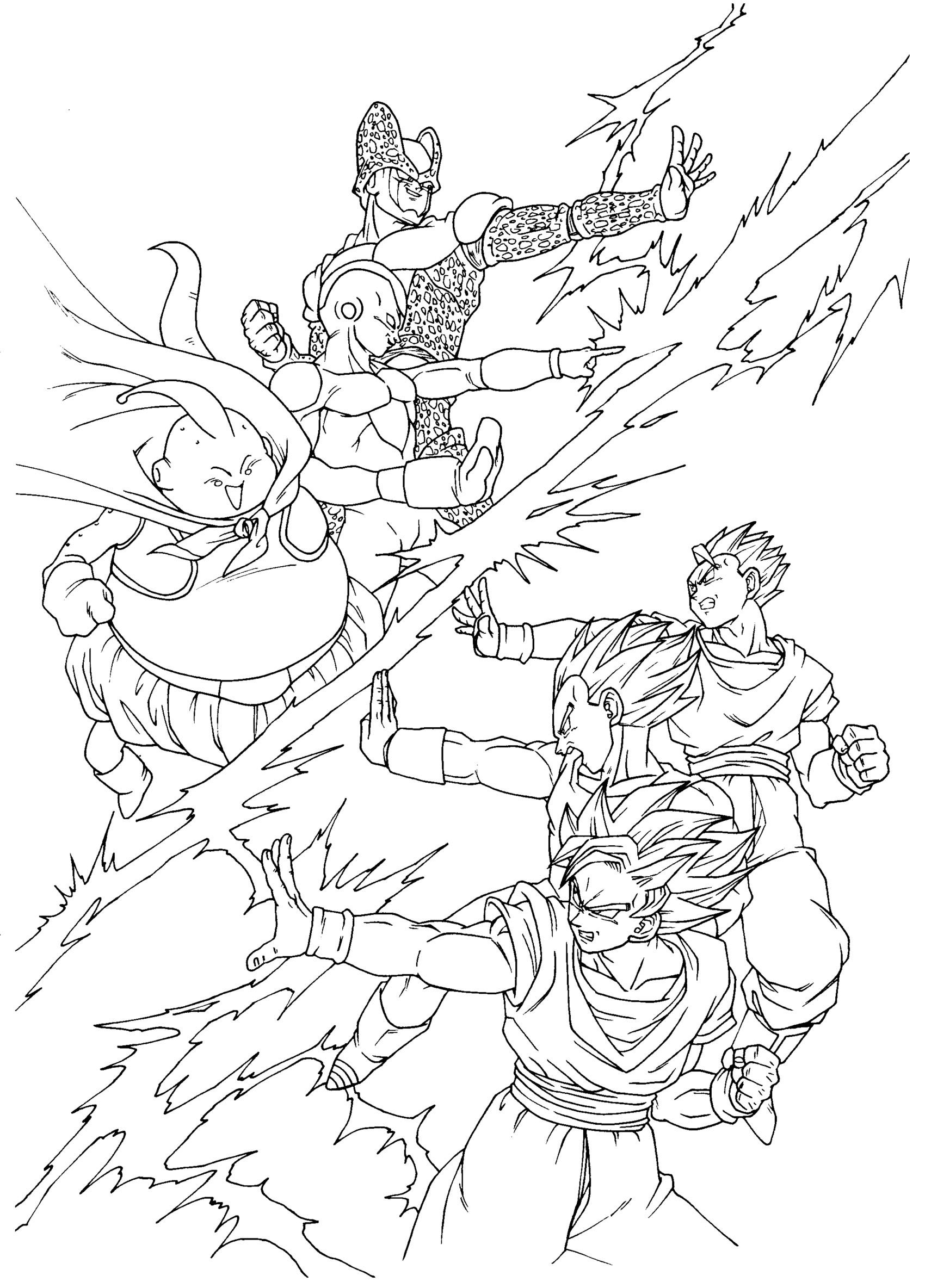 coloriages dragon ball z 12