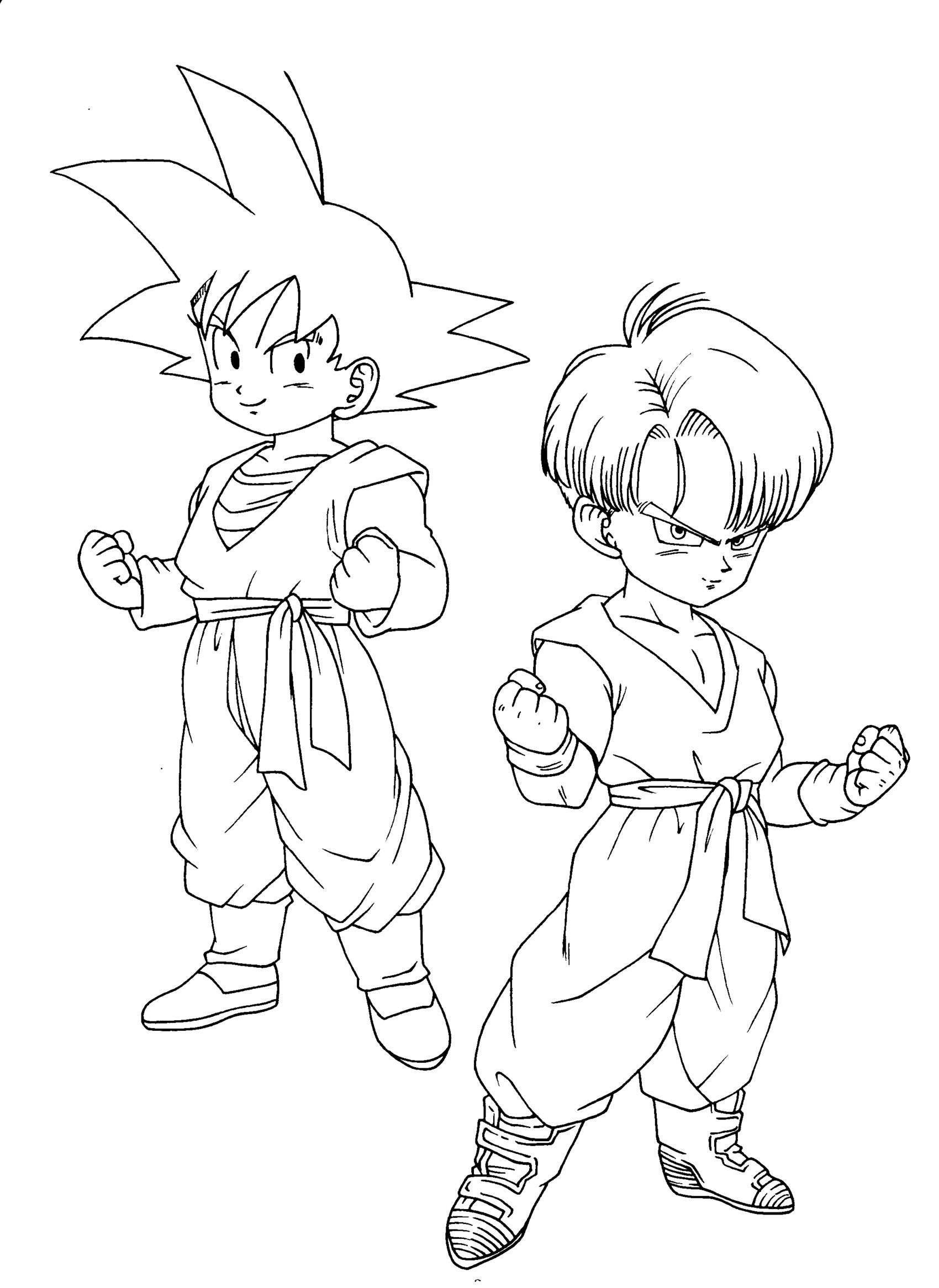 Coloriages dragon ball z 13 coloriage dragon ball z coloriages pour enfants - Dessin dragon ball z facile ...