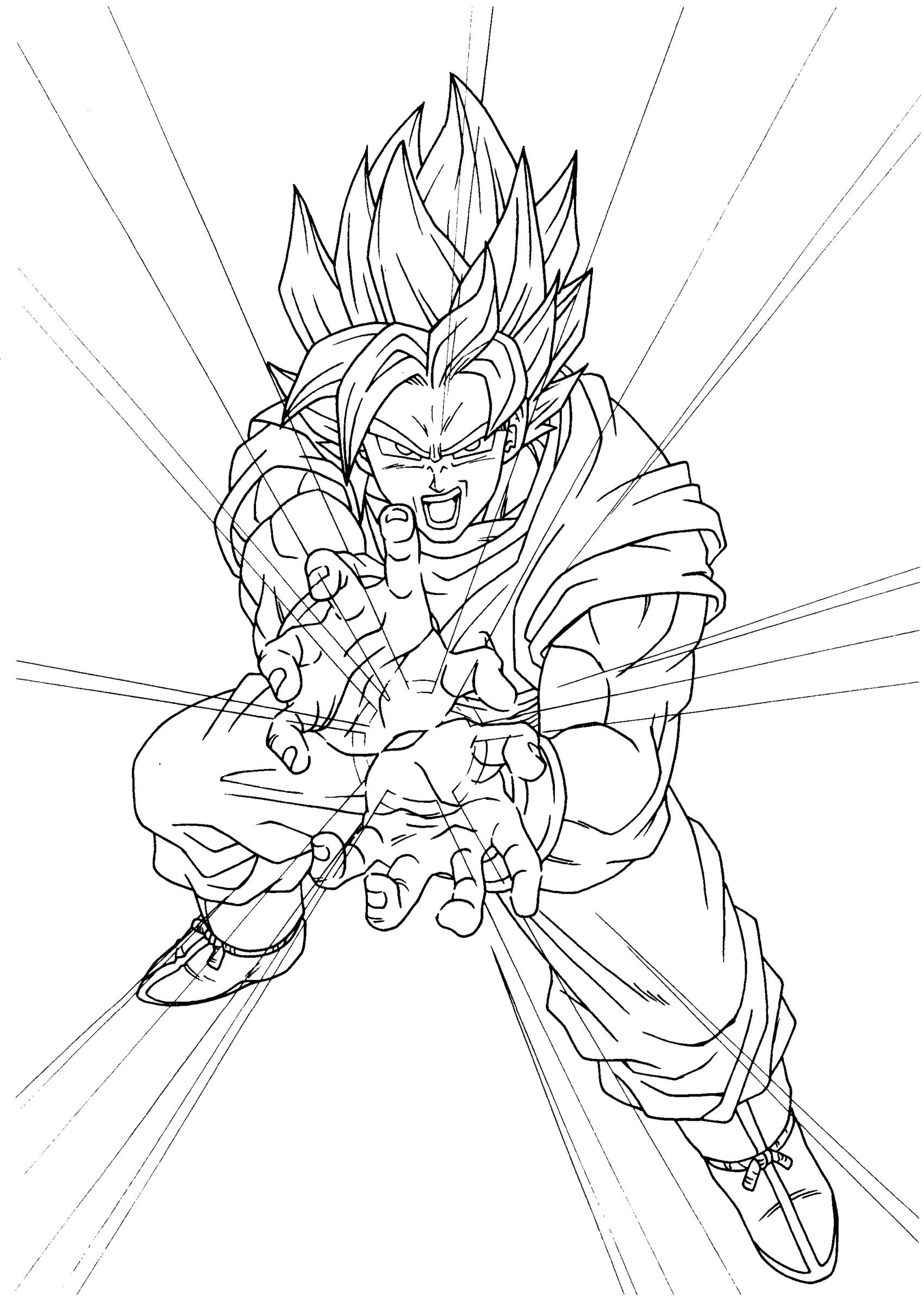 Coloriages dragon ball z 5 coloriage dragon ball z coloriages pour enfants - Coloriage dragon ball z sangoku ...