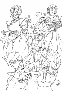 Coloriages dragon ball z 10