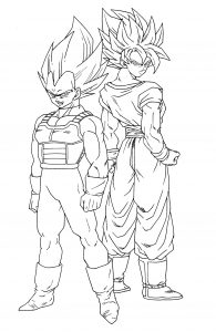 Coloriage dragon ball z coloriages pour enfants - Sayen legendaire ...