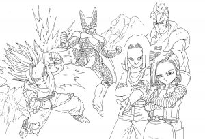 coloriages-dragon-ball-z-8 free to print