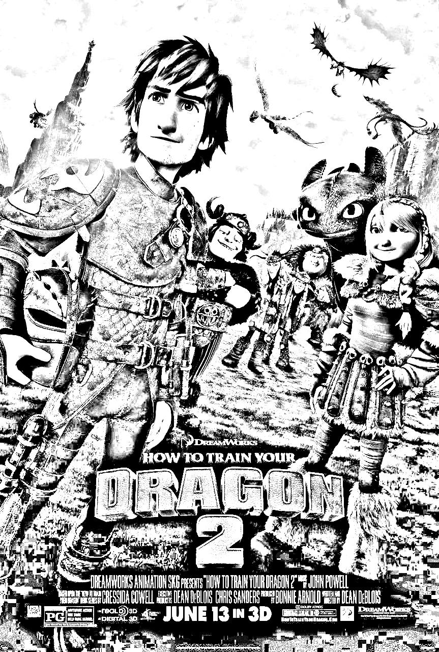 Coloriage dragons 2 coloriages pour enfants coloriage dragon 2 affiche - Coloriage dragon 2 ...