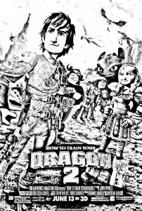 coloriage-dragon-2-affiche free to print