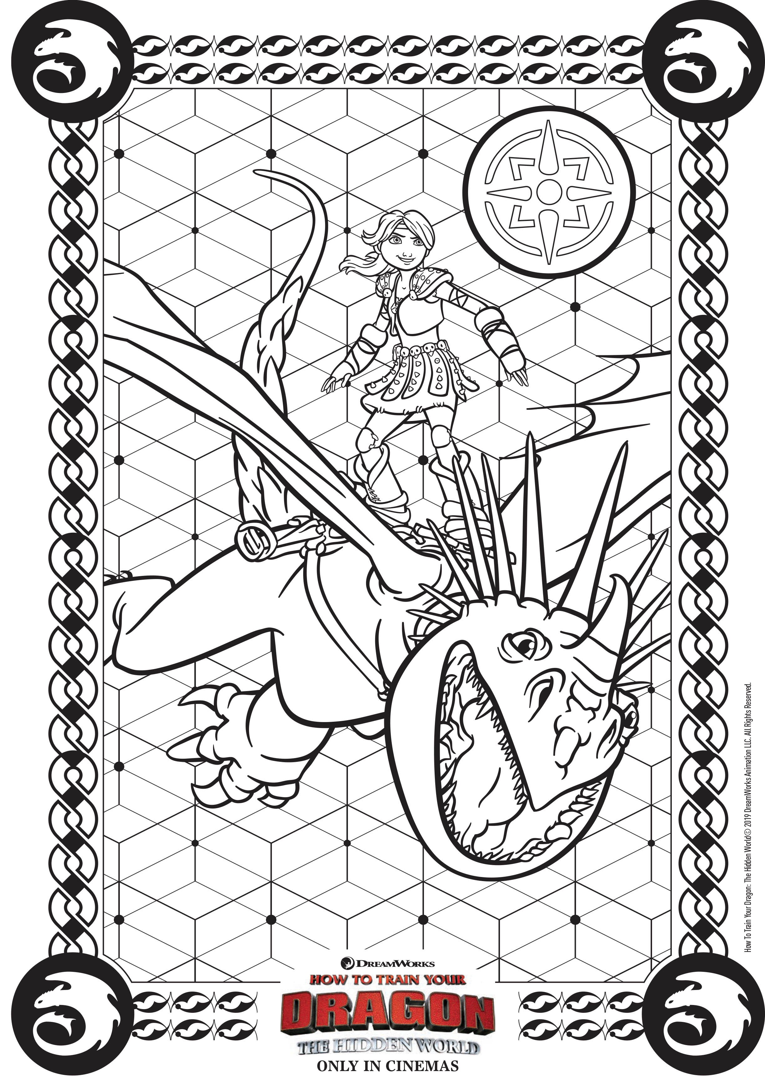 Astrid Coloriage Dragons 3 Coloriages Pour Enfants