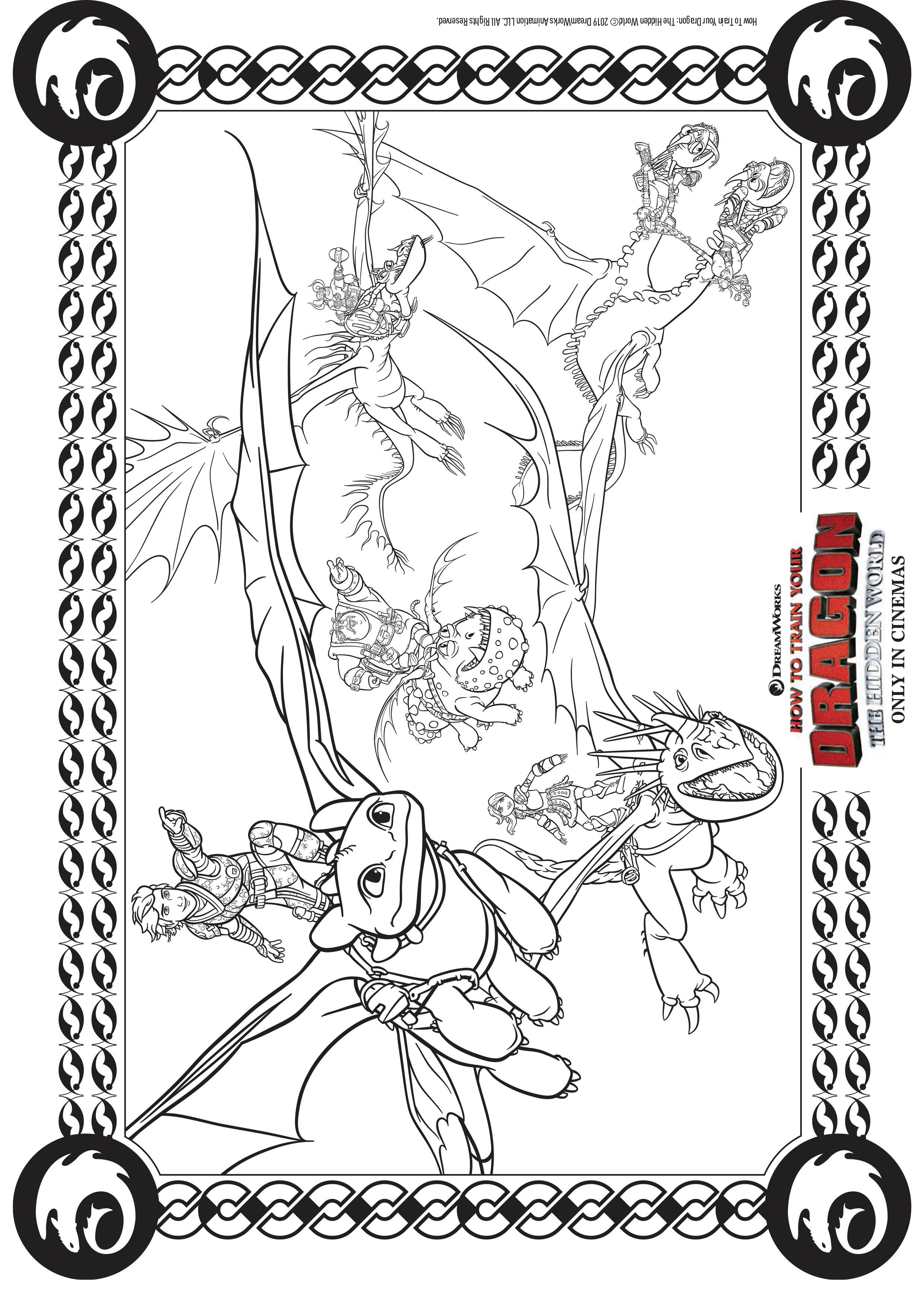 Voler En Equipe Coloriage Dragons 3 Coloriages Pour Enfants