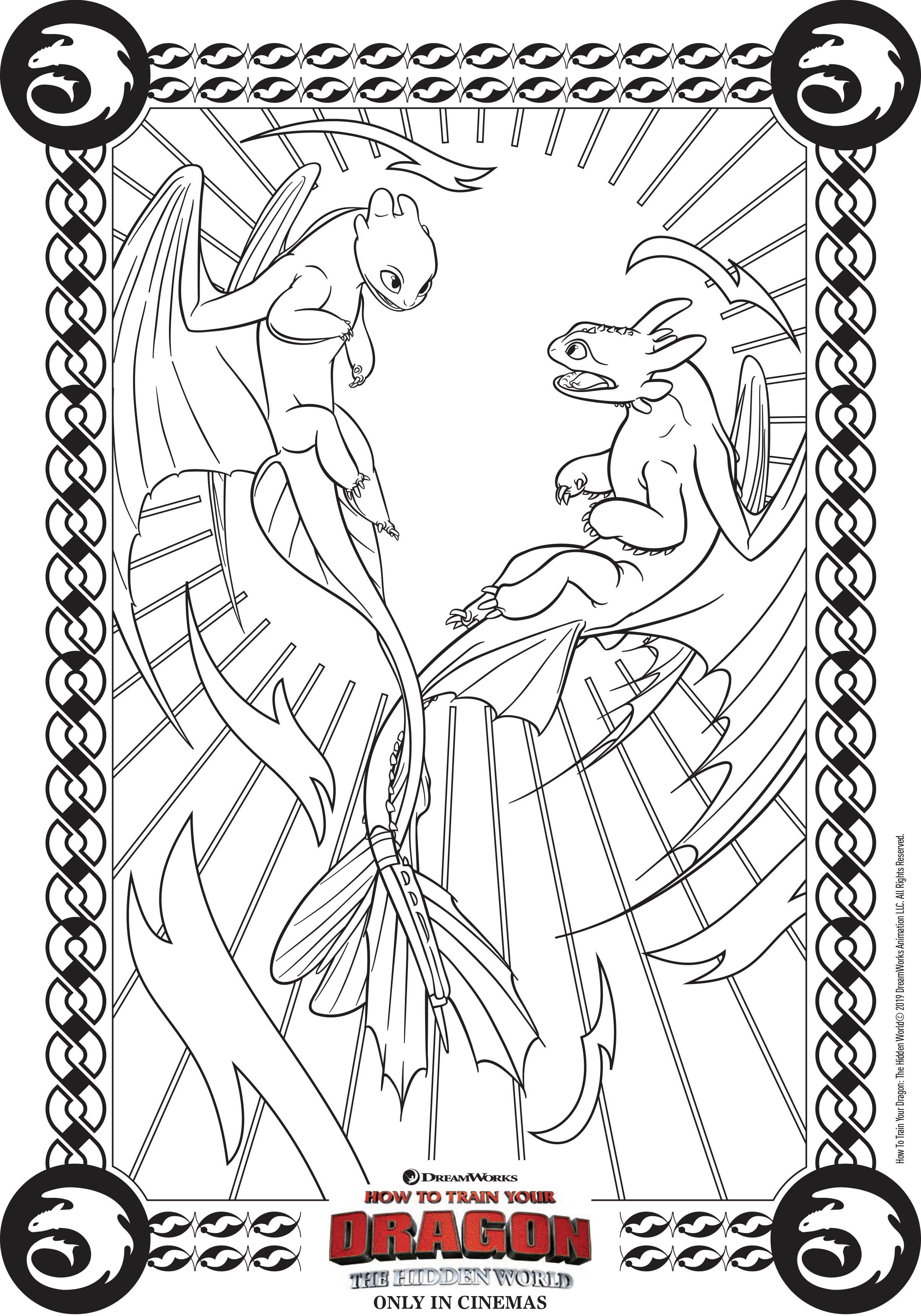 Les Dragons Amoureux Coloriage Dragons 3 Coloriages Pour Enfants