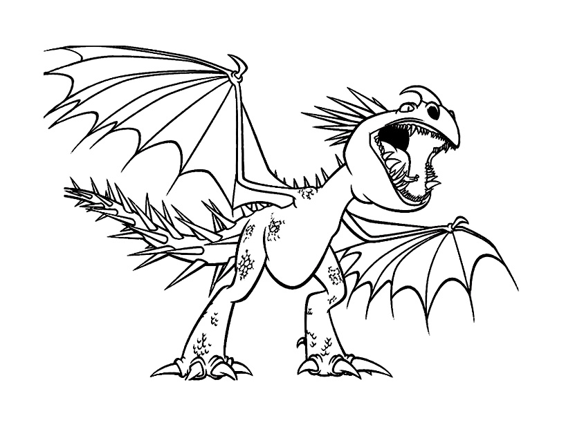 Dragons dreamworks 4 coloriage dragons coloriages pour - Dessin dragon couleur ...
