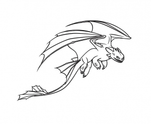 Coloriage dragons dreamworks 11