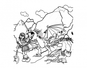 coloriage-dragons-dreamworks-16 free to print