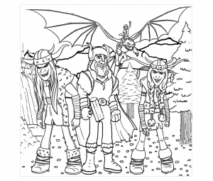 coloriage-dragons-dreamworks-2 free to print
