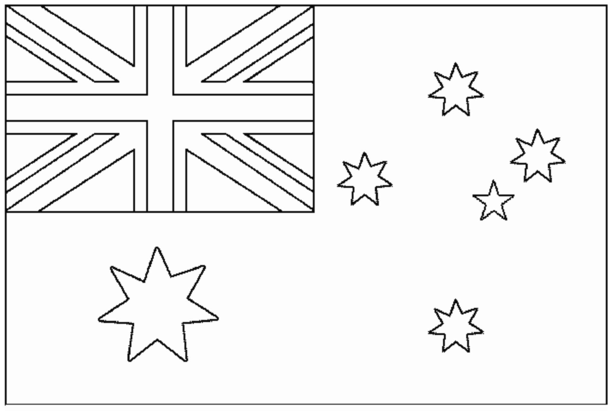 Drapeau Australie Coloriage De Drapeaux Coloriages Pour