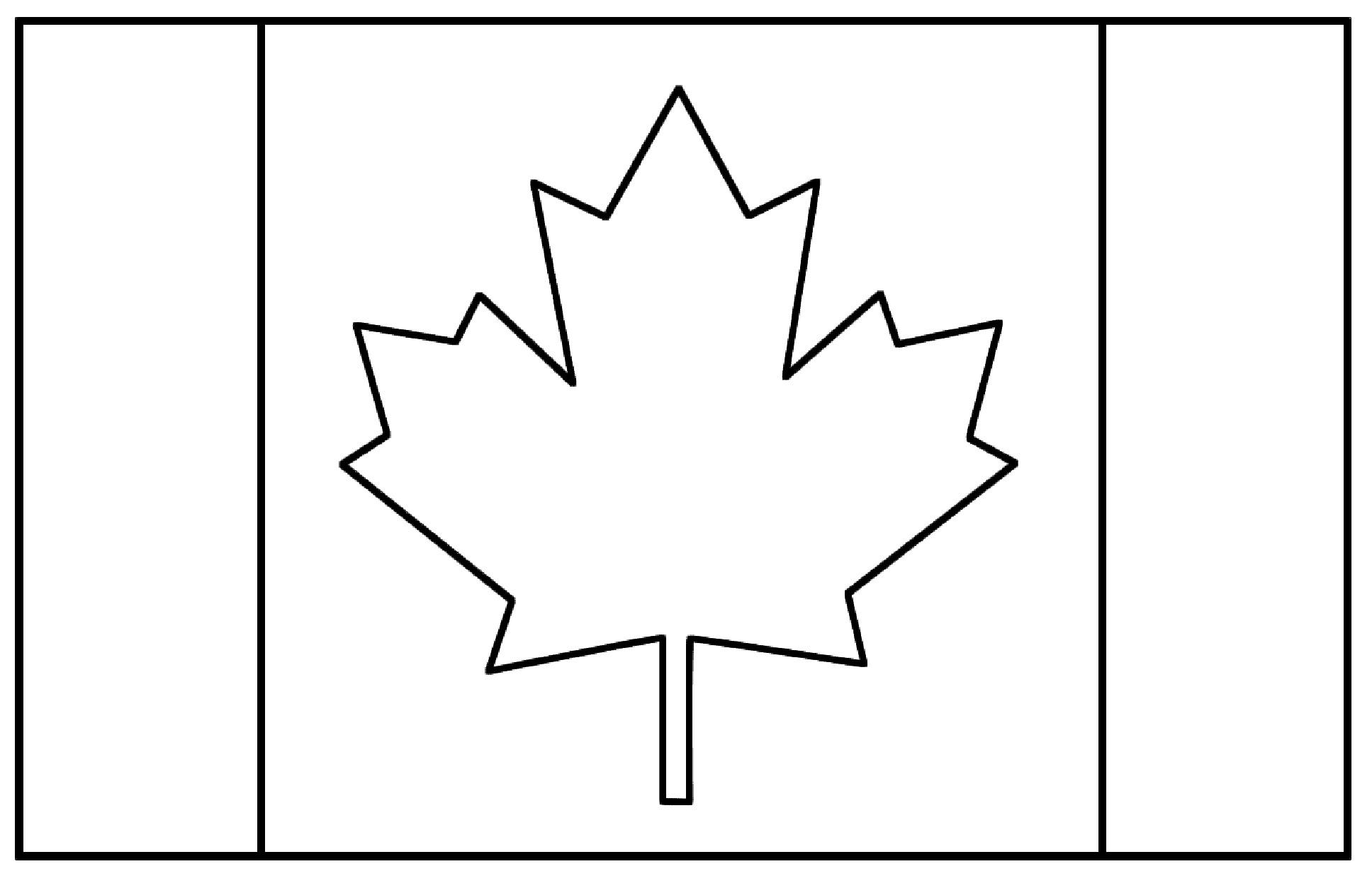 Fresh Coloriage Drapeau Canada Charmant Coloriage Drapeau