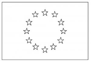 coloriage-drapeau-europe free to print