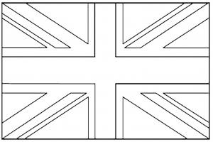coloring-drapeau-royaume-uni free to print