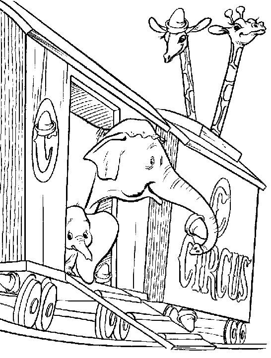 Image De Dumbo A Telecharger Et Colorier Coloriage Dumbo Coloriages Pour Enfants