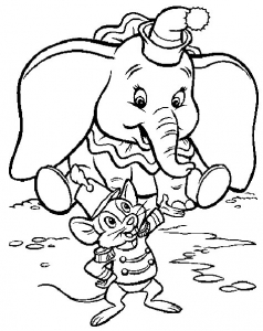 Coloriage dumbo 4