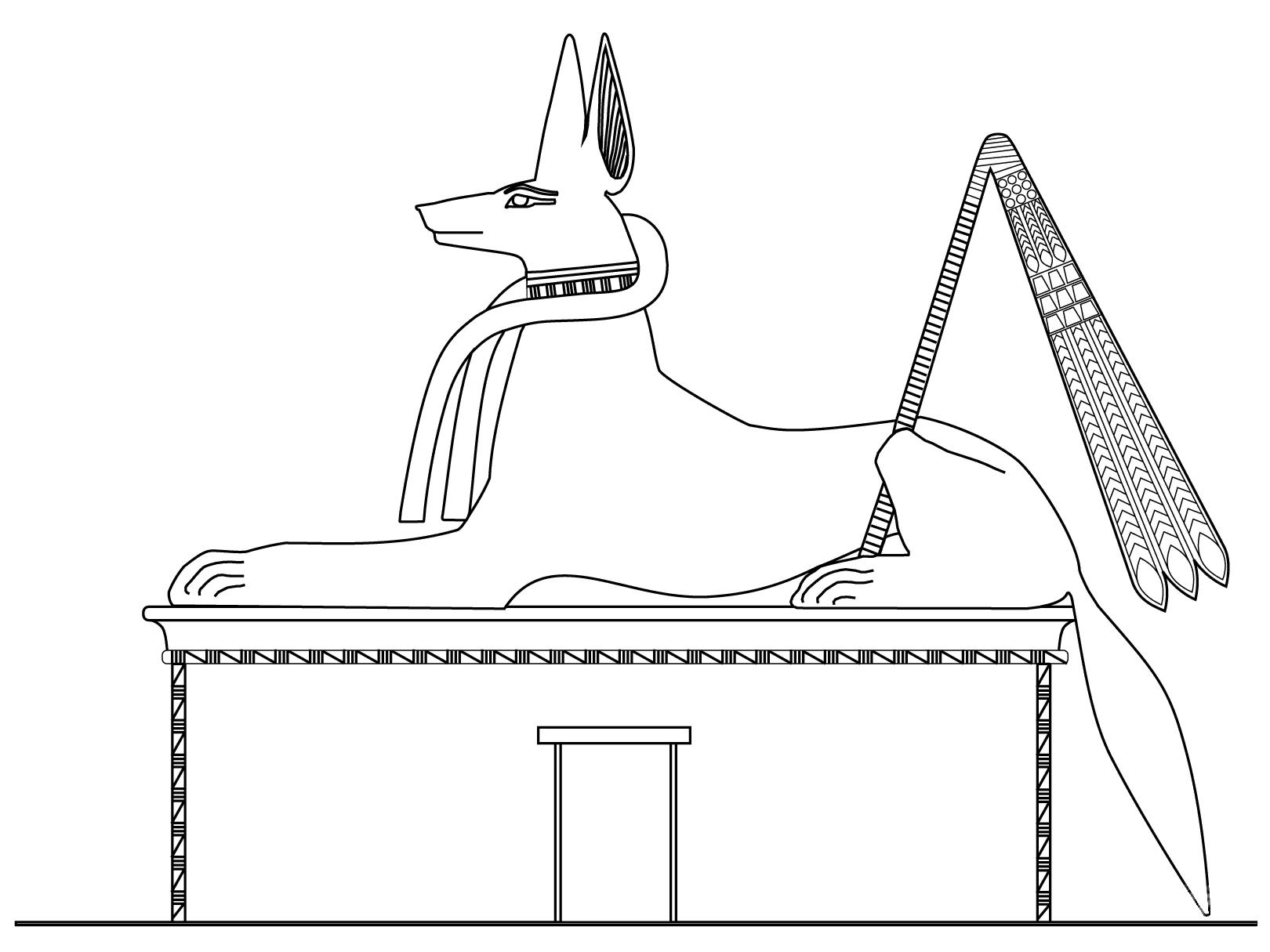 Anubis, sous la forme d'un Jackal