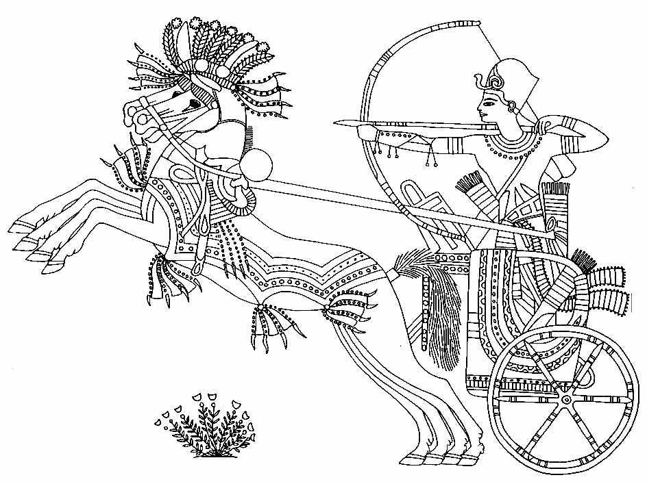 Scène Egyptienne à colorier