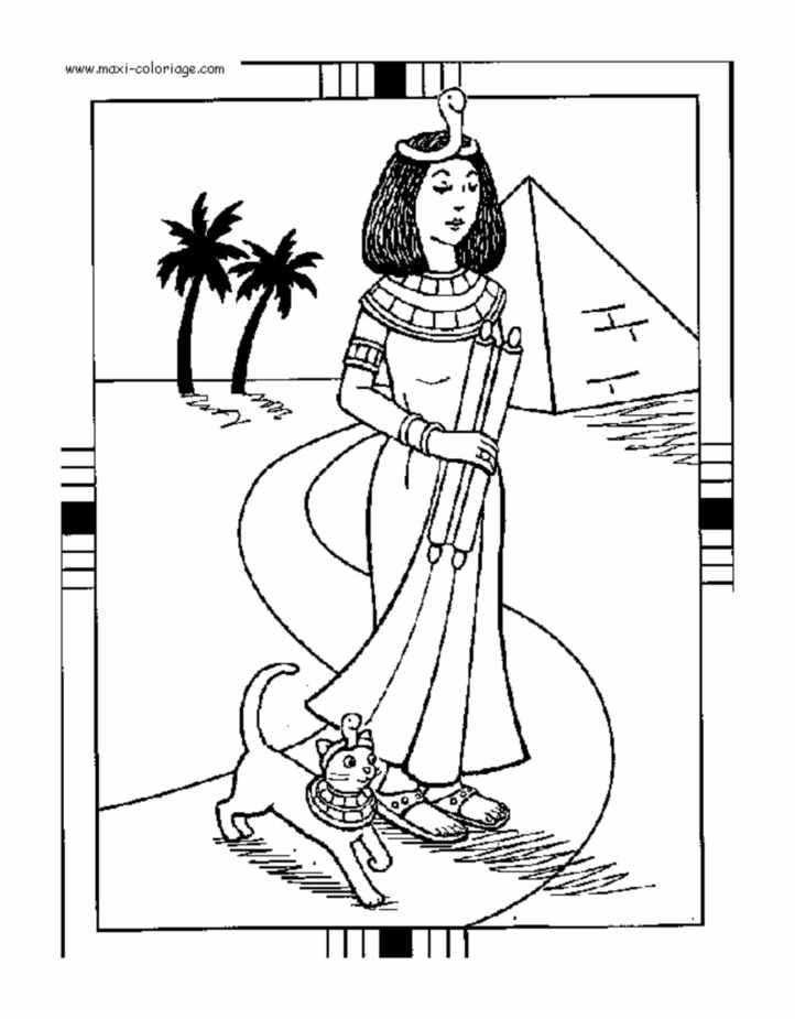 Coloriage de Cléopâtre reine d'Egypte
