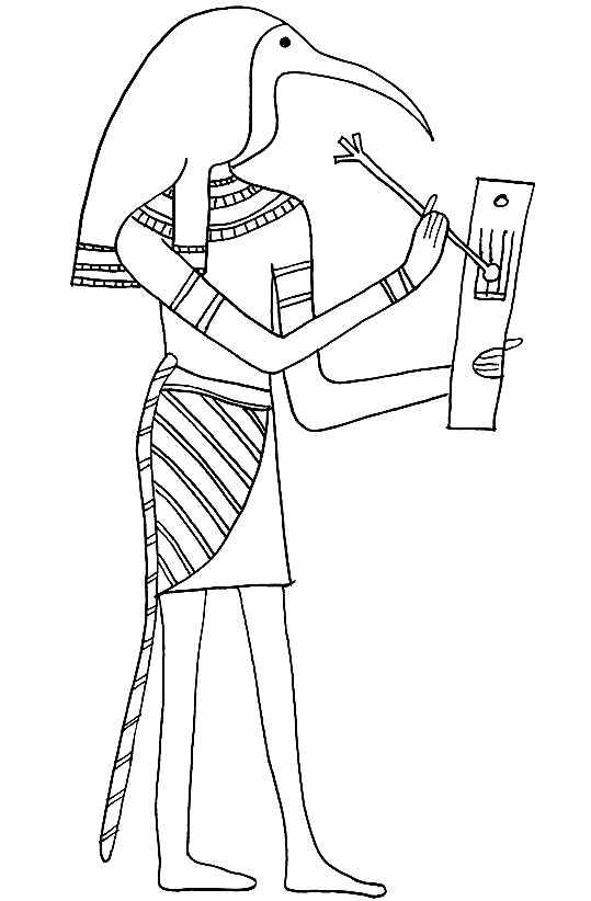 Pharaon à imprimer & colorier