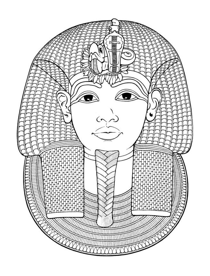 coloriage anti stress égyptien