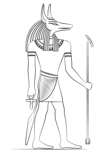 Anubis the god of death coloring page