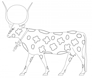 Hathor as a cow