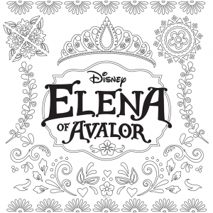 Coloriage de Elena Avalor à télécharger