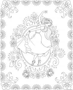 Coloriage de Elena Avalor à colorier pour enfants