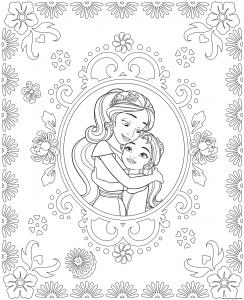 Coloriage de Elena Avalor à imprimer gratuitement
