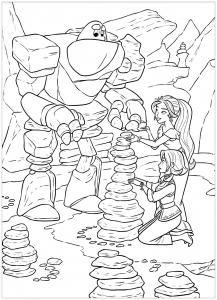 Coloriage de Elena Avalor pour enfants