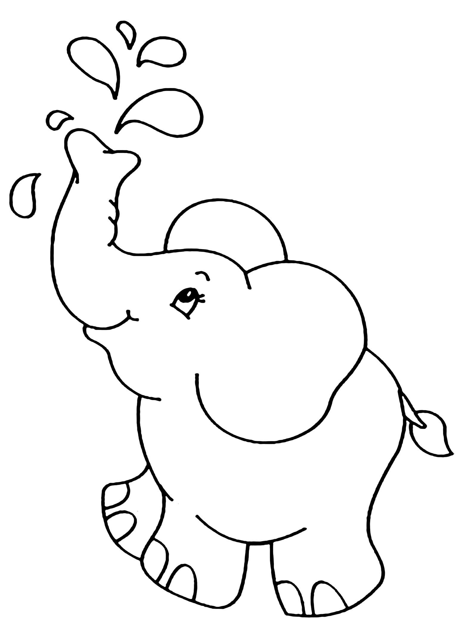 Coloriage D Elephant A Telecharger Gratuitement Coloriage D Elephants Coloriages Pour Enfants