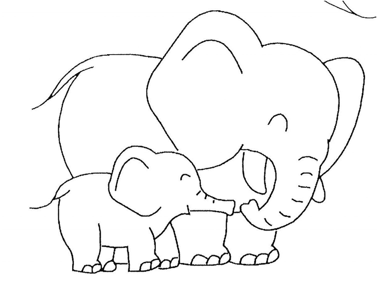 Coloriage D Elephant A Imprimer Coloriage D Elephants Coloriages Pour Enfants